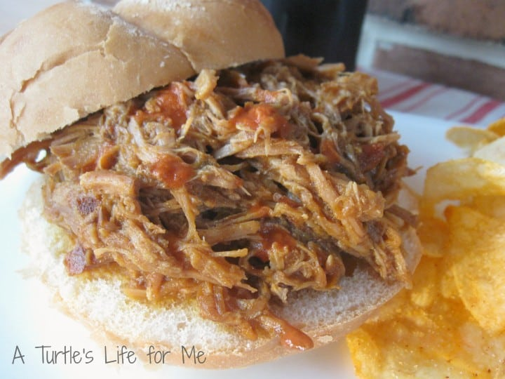 pumpkin chipotle pulled pork barbecue sandwich