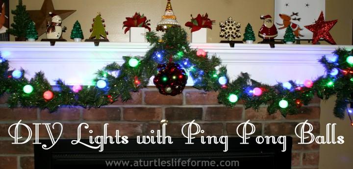 diy lights ping pong balls led