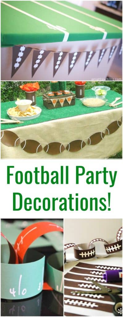 Football Party Decorations Crafts