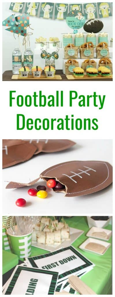 Football Party decorations and ideas
