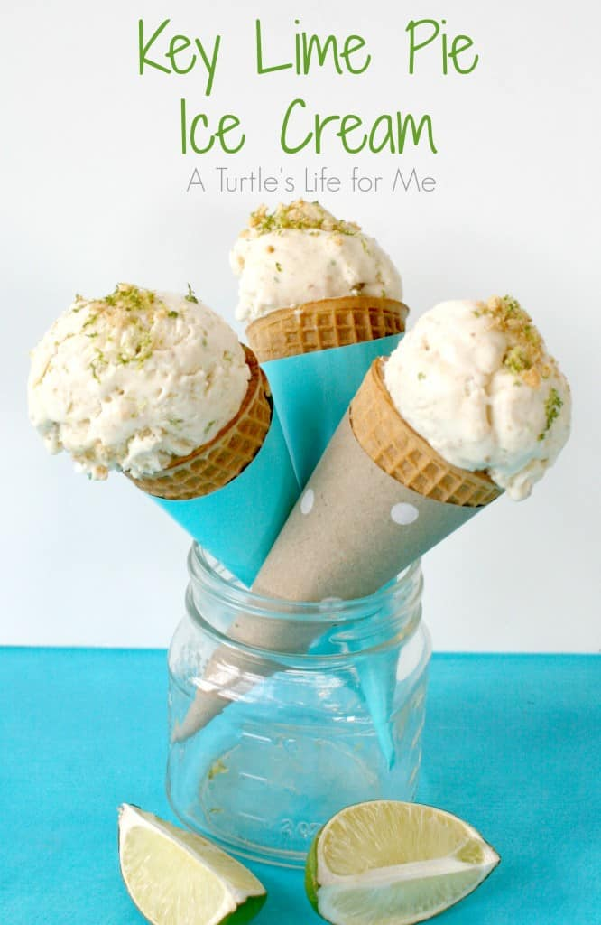 key lime pie ice cream cones