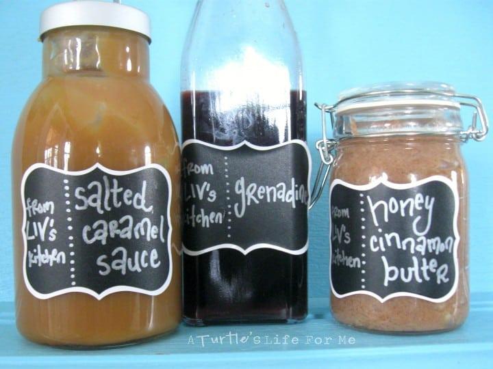 homemade caramel butter grenadine edible gifts