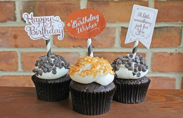 minc gold foil machine birthday party cupcake toppers