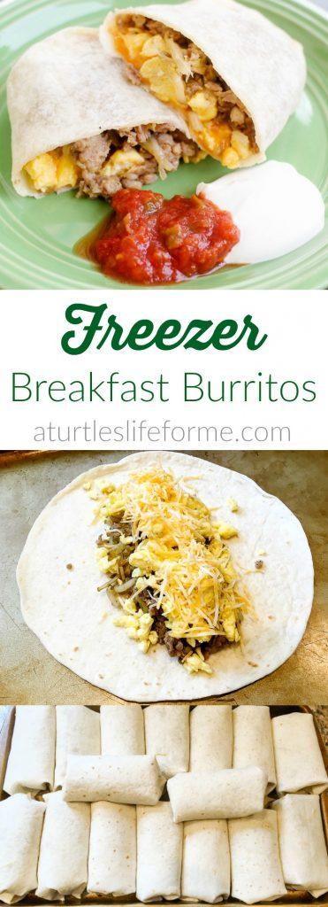 How to make tasty freezer breakfast burritos with sausage