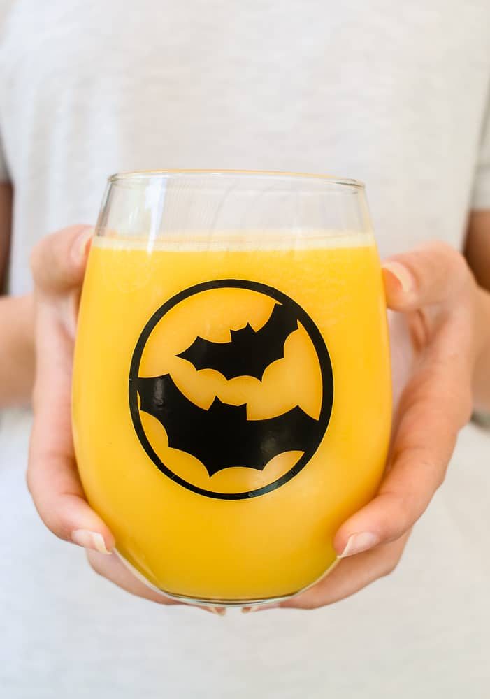 how to DIY Halloween glasses with Cricut