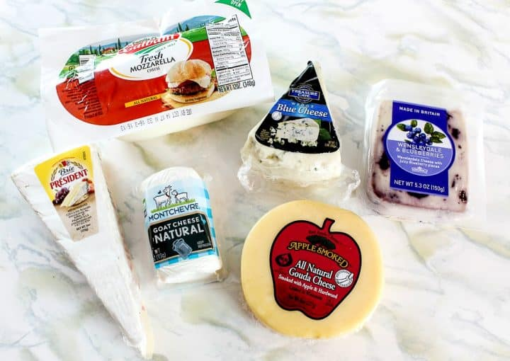 types of cheeses for charcuterie
