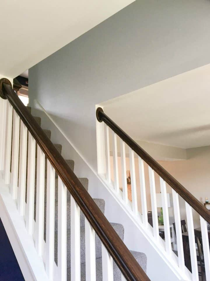 How to paint high stairwell wall