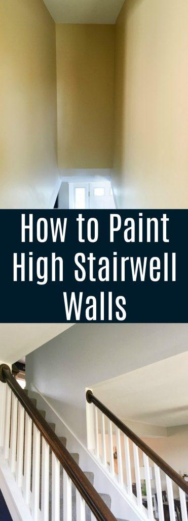 How to paint high stairwell walls
