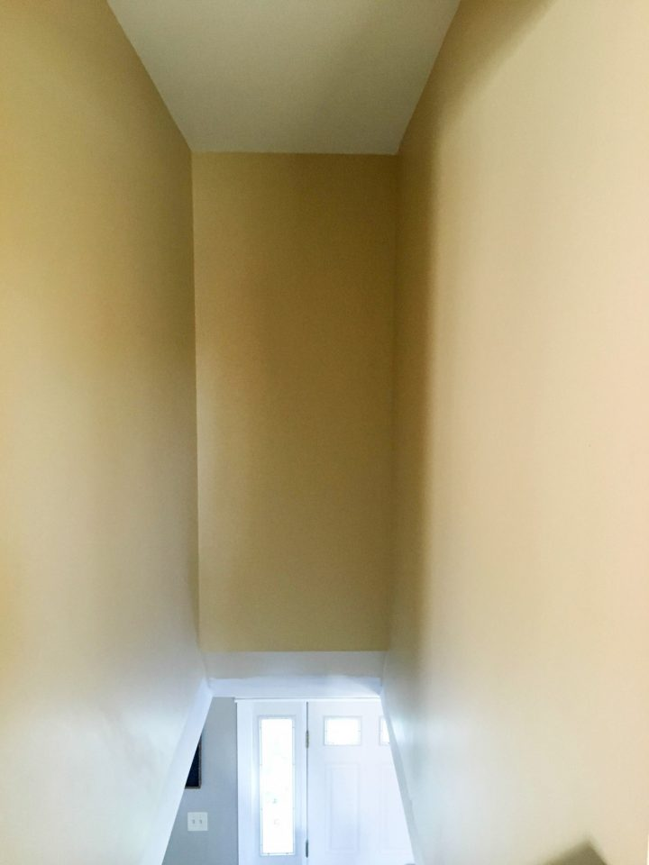 Step 2 Before painting stairwell wall