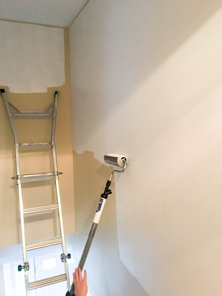Step 4 painting a stairwell