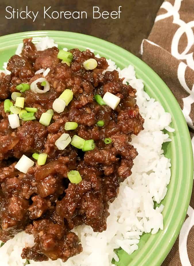 Sticky Korean Beef with Jasmine Rice Recipe