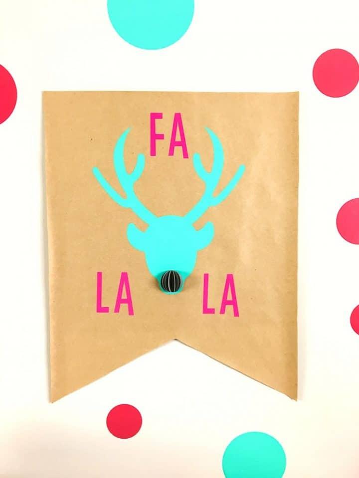 Christmas banner with Cricut vinyl