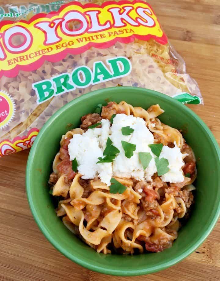 No Yolks Noodles in Lasagna Soup