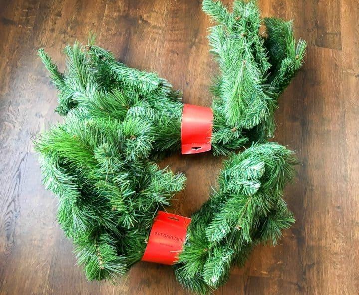 faux evergreen garland