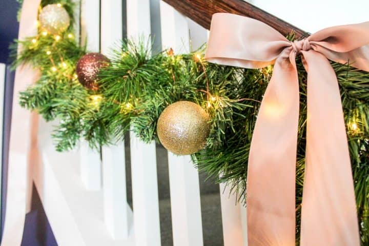 how to make faux evergreen garlands with light