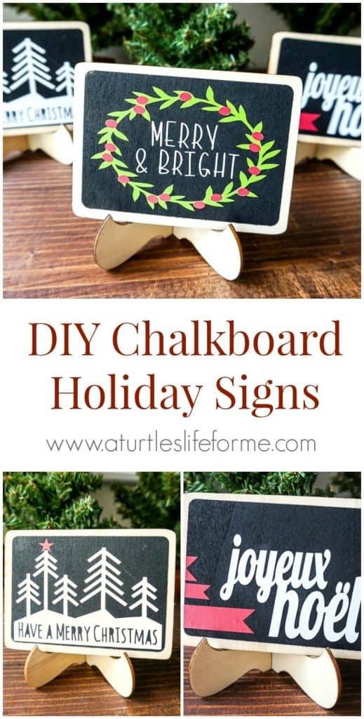 DIY Chalkboard Holiday Signs