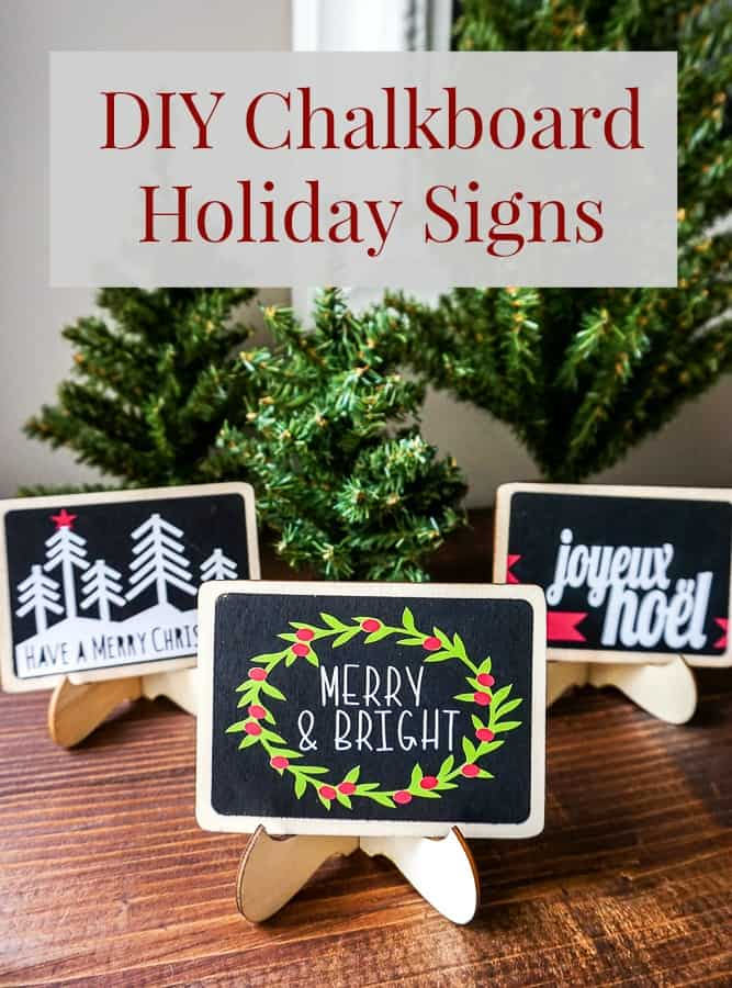 how to make DIY chalkboard Christmas signs - A Turtle's Life for Me