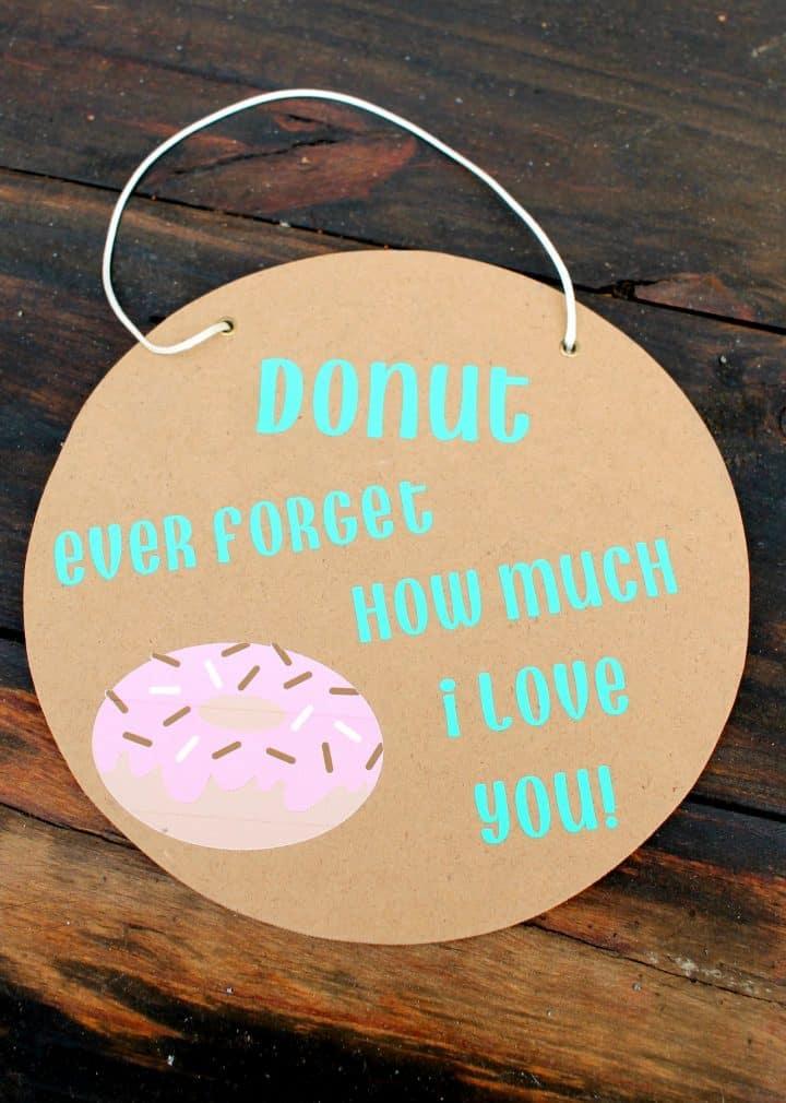 Funny Valentine's Day donut sign