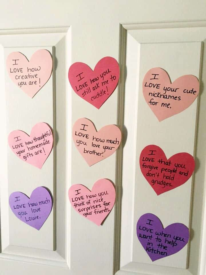 Valentines Day countdown hearts