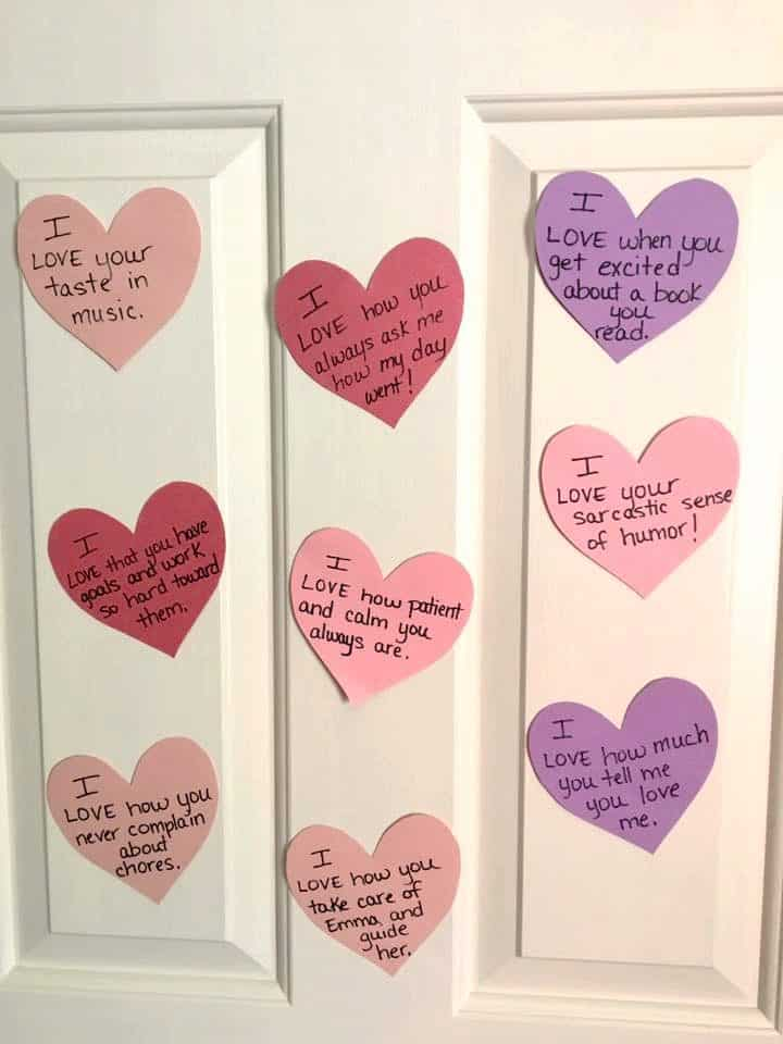 Valentines Day countdown hearts for kids