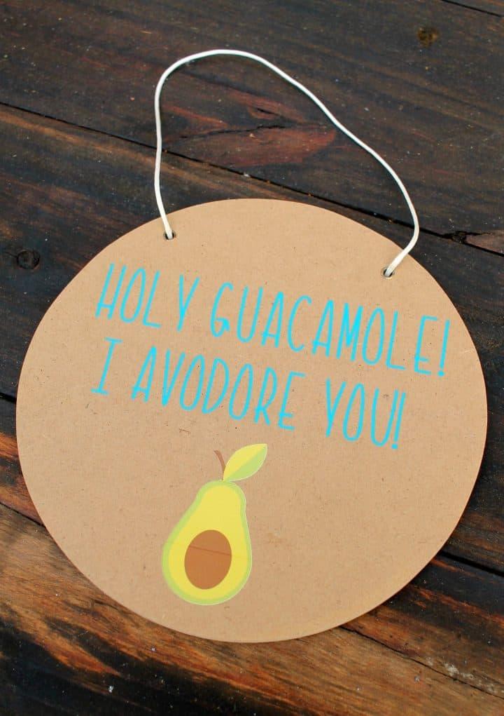 Valentines Day funny avocado sign