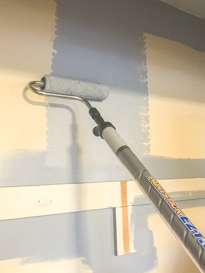 how to use paint stick on walls quickly