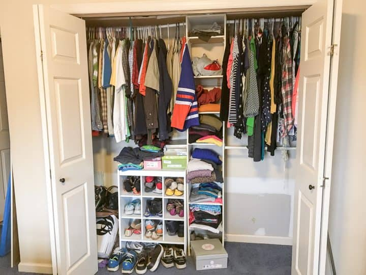 master closet makeover before after