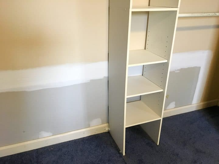 master closet makeover before after paint -1