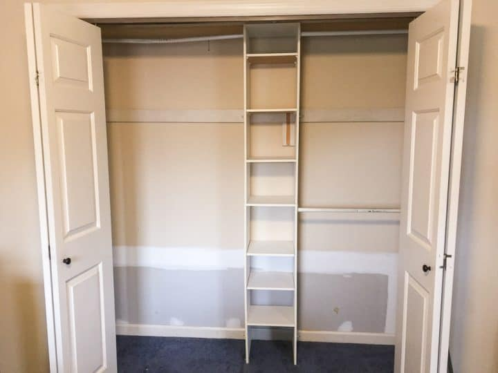 master closet makeover before after paint