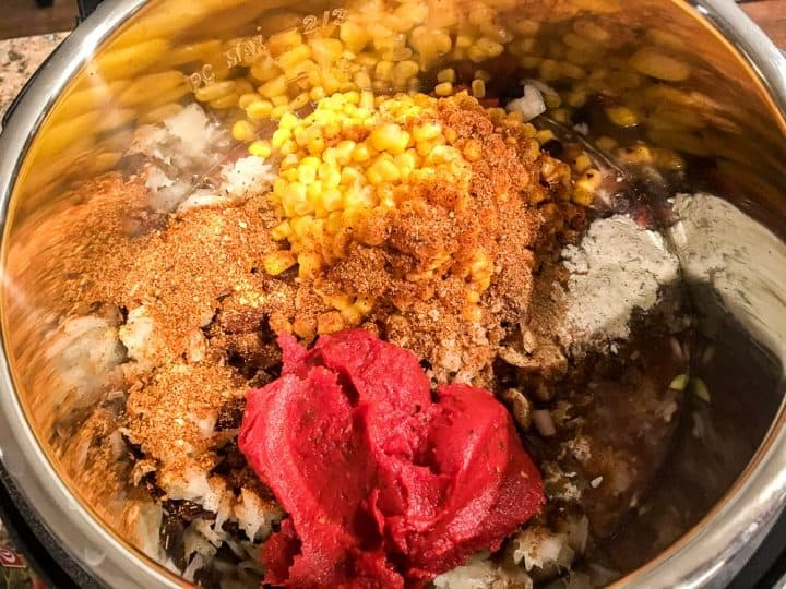 Ingredients for Instant Pot Chicken Taco Soup Weight Watchers