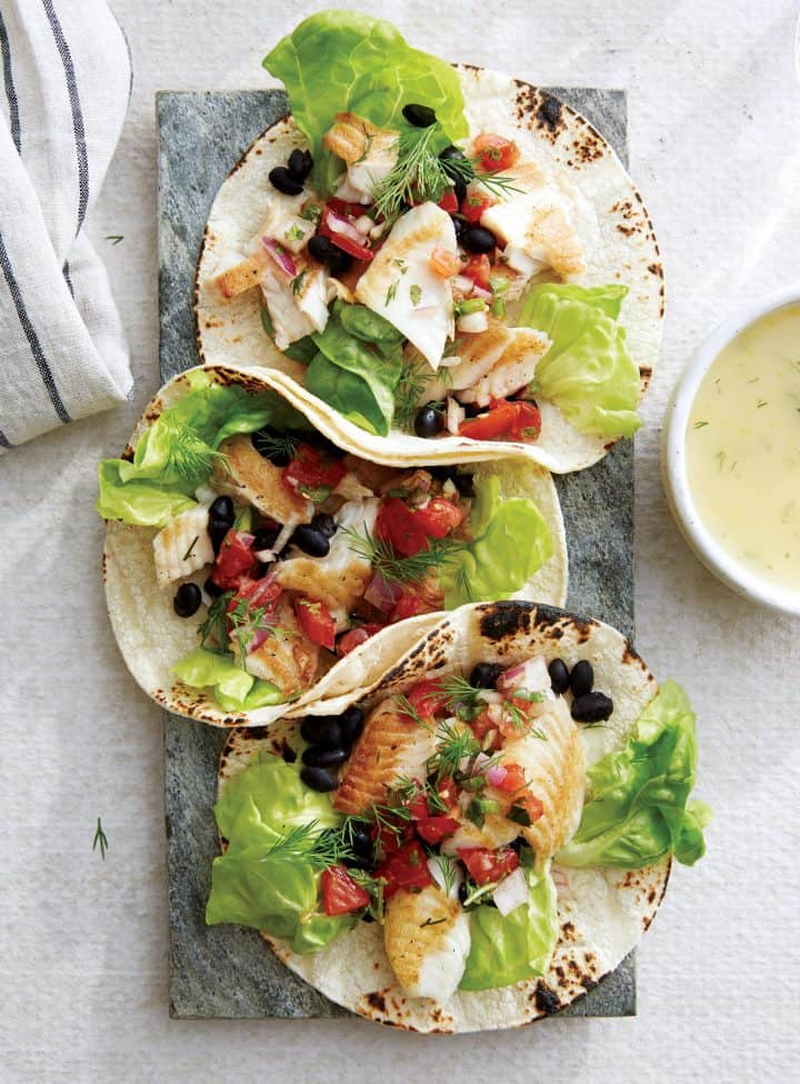 Lemon Dill Tilapia Tacos Recipe