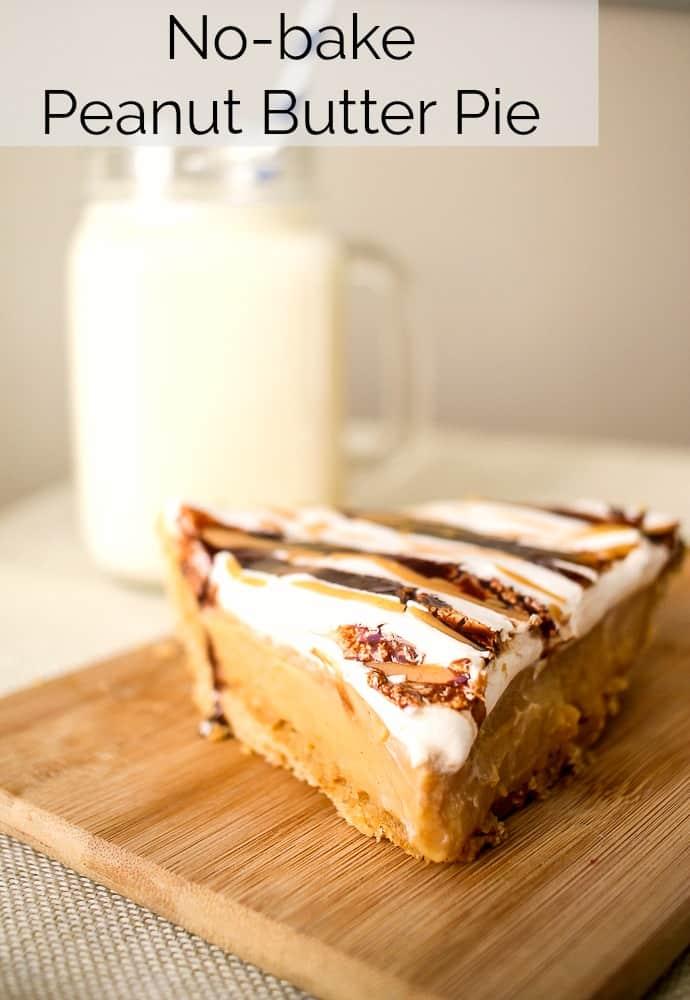 homemade no-bake peanut butter pudding pie recipe
