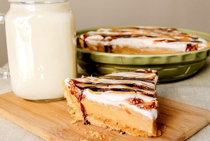 homemade peanut butter chocolate pudding pie recipe