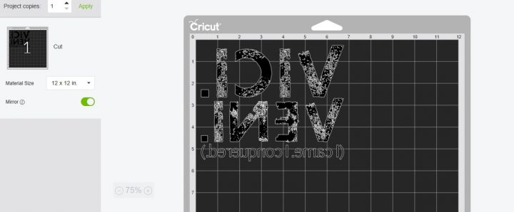 how to mirror images in Cricut Design Space for tshirts