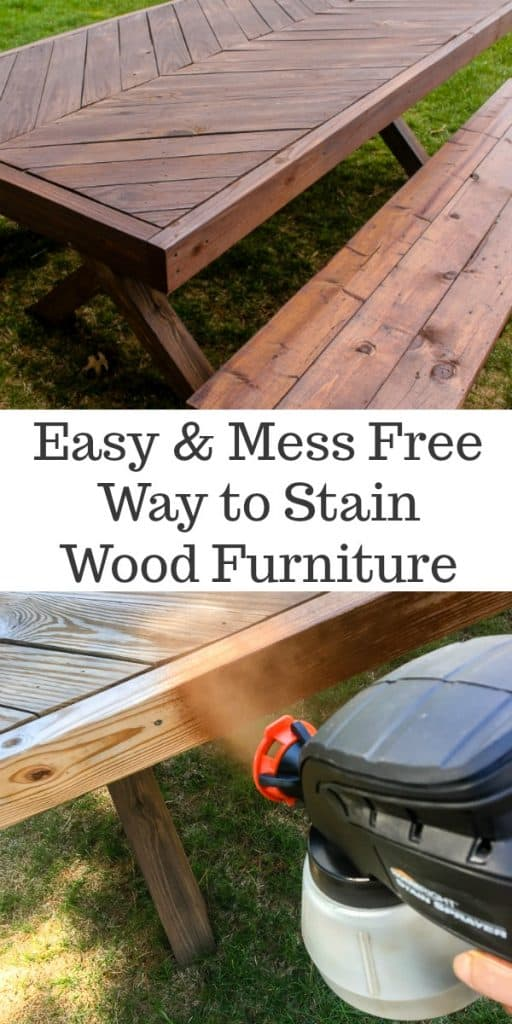 Easiest way to stain wood furniture