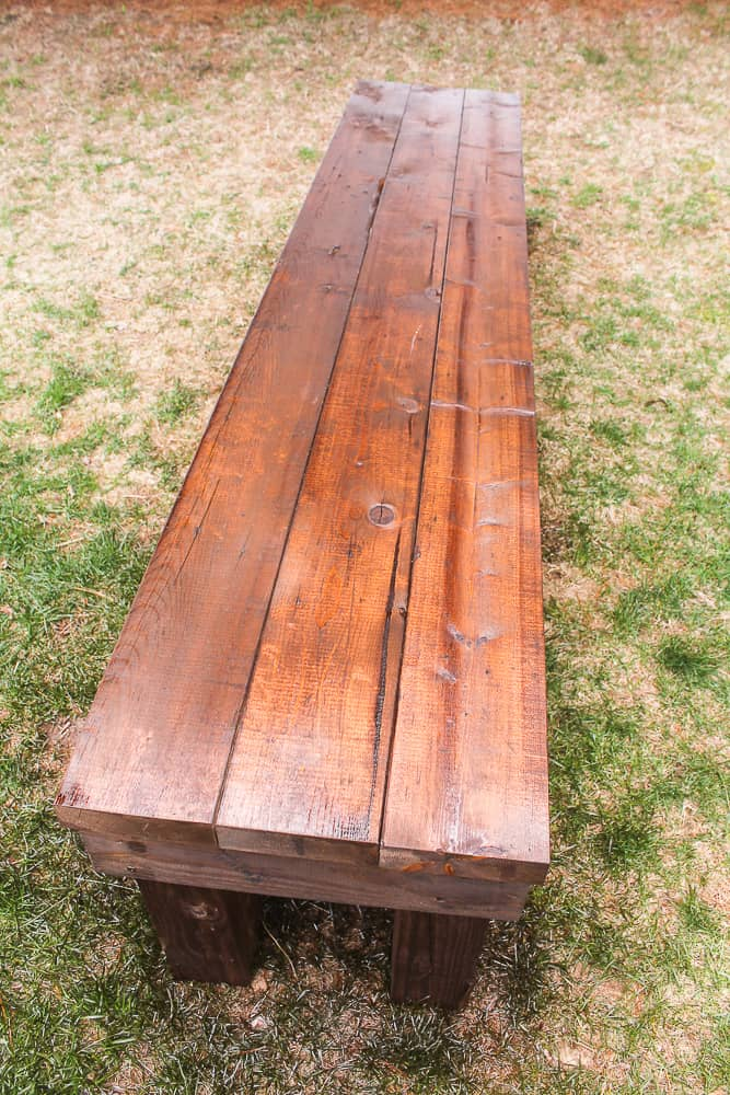 How to Stain a Picnic benches