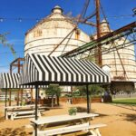 Magnolia Market food trucks courtyard in Waco Texas