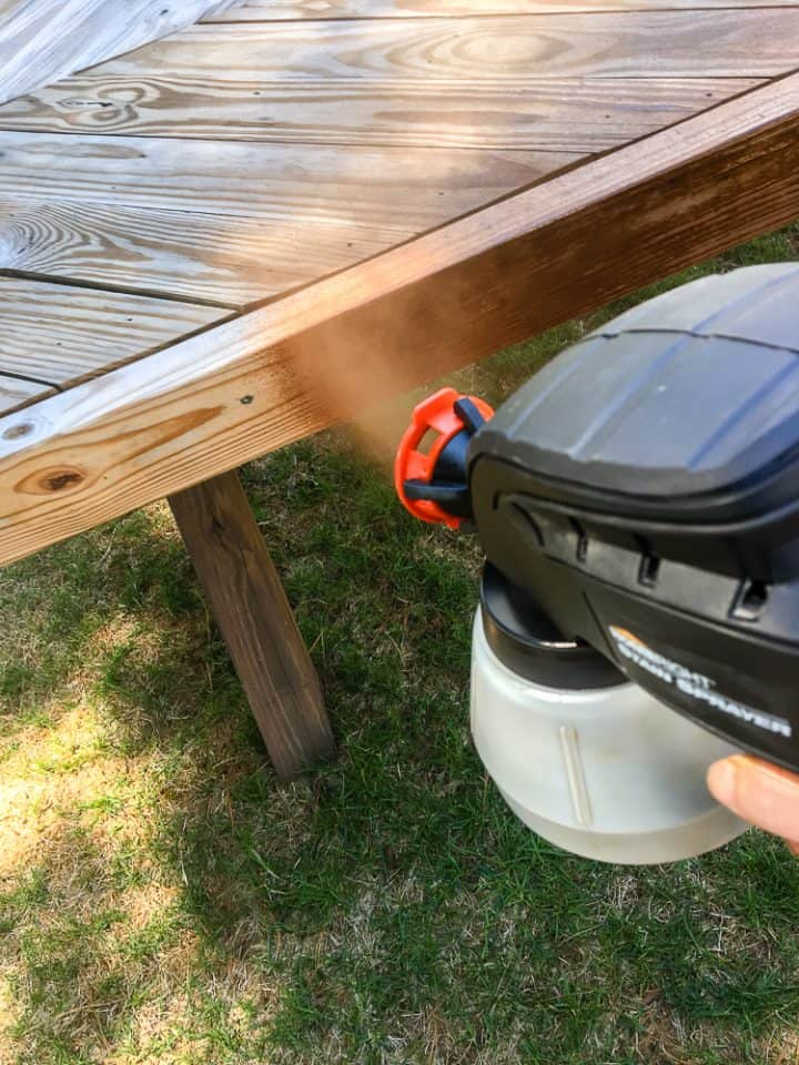 how to use a stain sprayer on wood