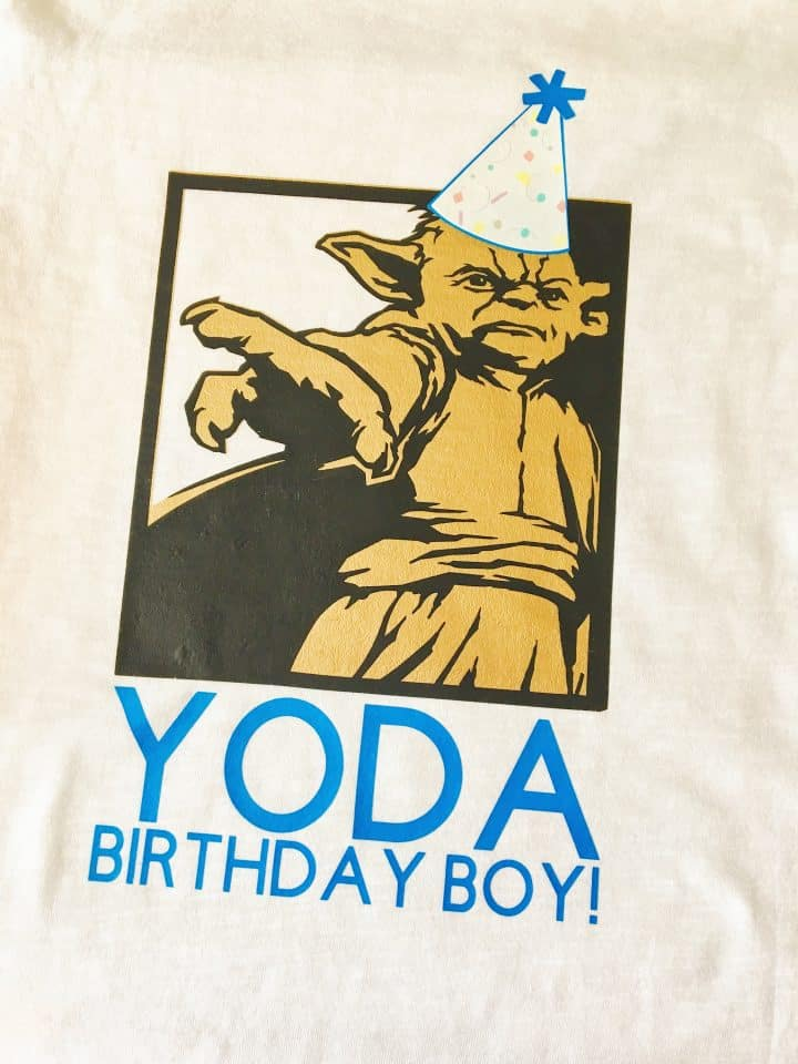 Personalized Yoda Shirt with Cricut
