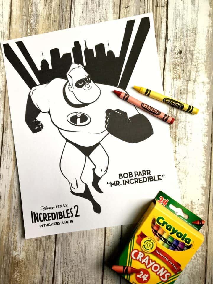Incredibles coloring pages free printable