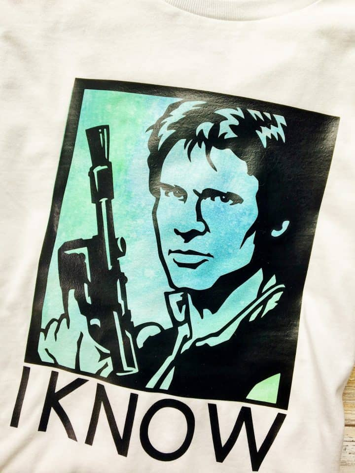 Personalized Han Solo Star Wars shirt