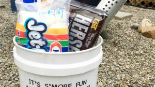 how to make a s'mores camping bucket kit