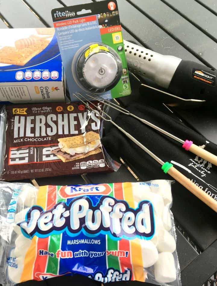 how to make a s'mores camping kit with light