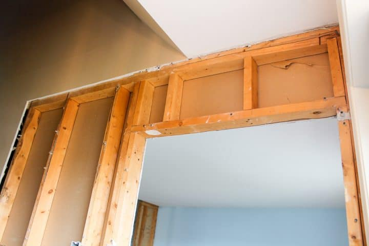 how to remove drywall when opening stairwell