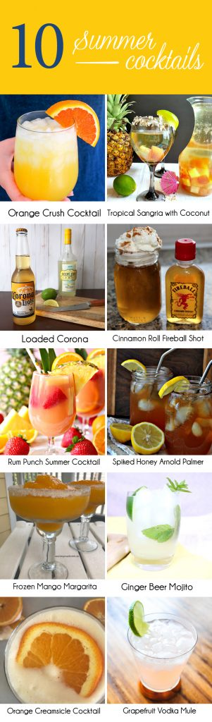 easy summer alcoholic cocktail drinks