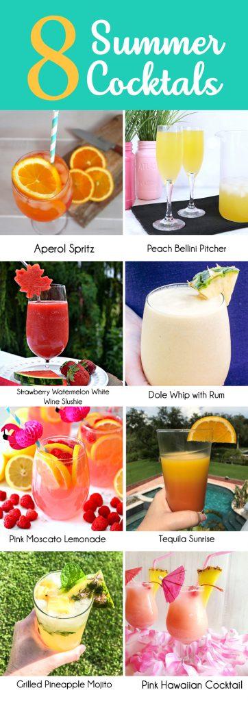 8 Summer Cocktail Recipes for summer BBQs