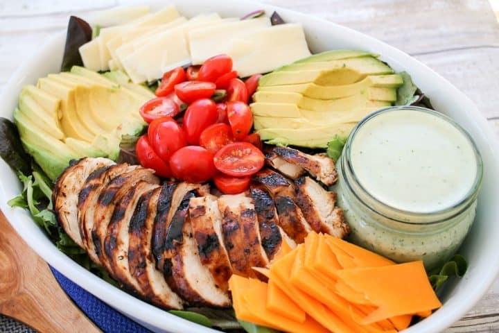Grilled Chicken Salad Homemade Green Goddess Salad Dressing