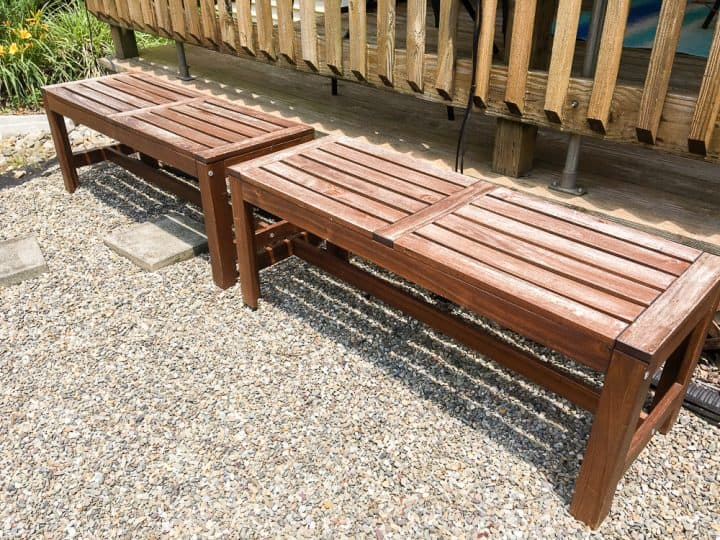 How to paint outdoor wood benches