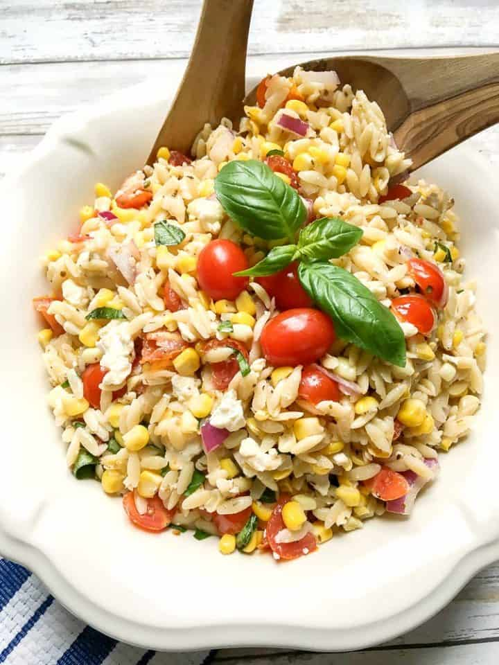 Roasted Corn and Tomato Summer Orzo Salad recipe