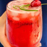 Sparkling Cherry Lime Cosmo Recipe